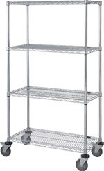 moblie chrome wire shelving